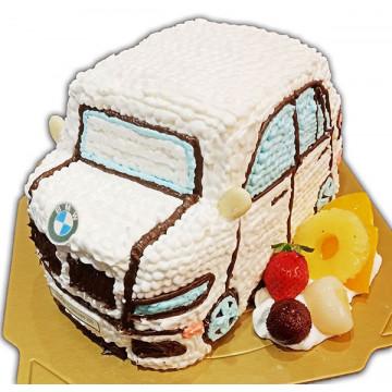 白色名車造型蛋糕/卡通蛋糕/好吃蛋糕/生日蛋糕推薦/立體蛋糕