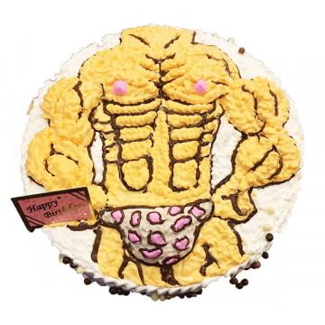 肌肉猛男造型蛋糕/卡通蛋糕/好吃蛋糕/生日蛋糕推薦/立體蛋糕