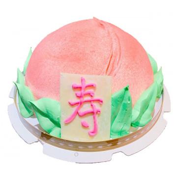 立體壽桃造型蛋糕/卡通蛋糕/好吃蛋糕/生日蛋糕推薦/立體蛋糕