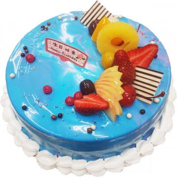 藍色海洋/好吃蛋糕/生日蛋糕推薦/美味蛋糕/蛋糕外送/鏡面蛋糕
