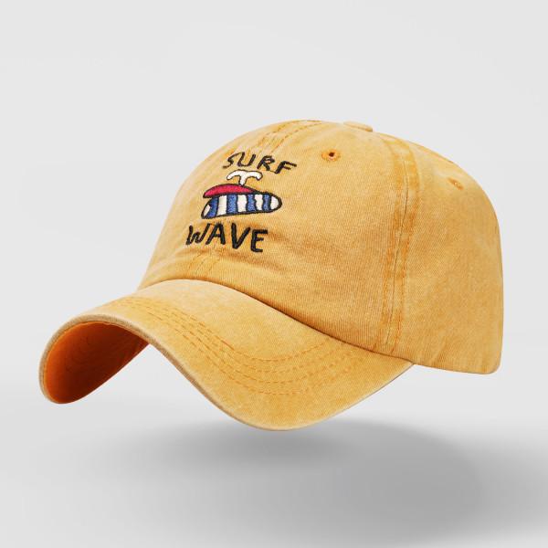 衝浪作舊復古刺繡字母棒球帽