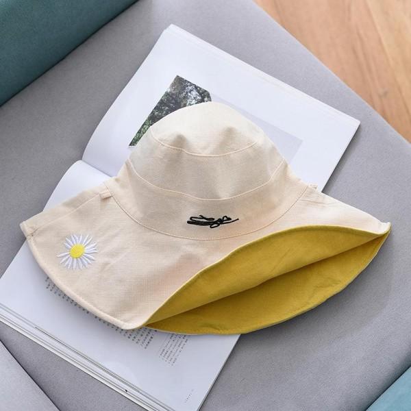 小雛菊大沿遮陽雙面漁夫帽