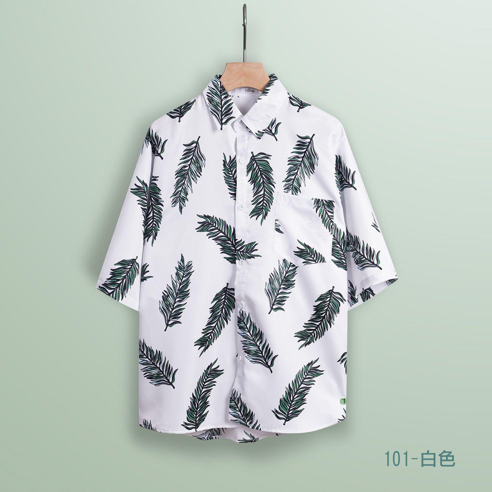 短袖夏威夷花襯衫