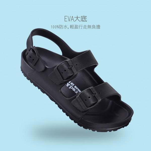 雙扣拖鞋BG-2569-黑色
