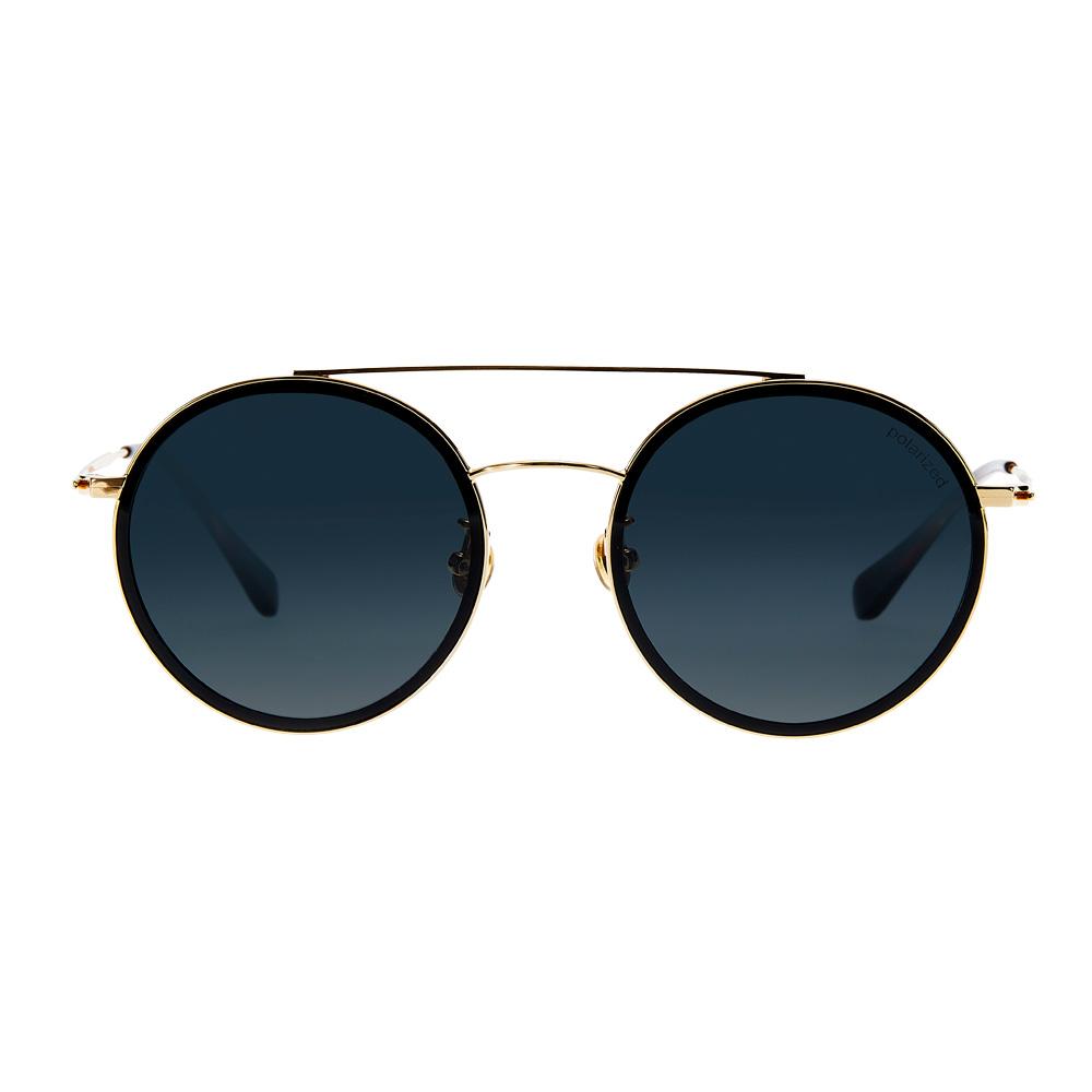 TIN022 個性黑粗圓框太陽眼鏡
