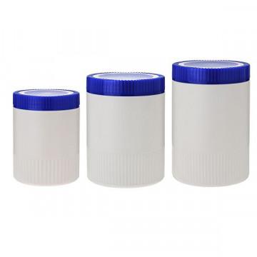 大口瓶 藍蓋圓型