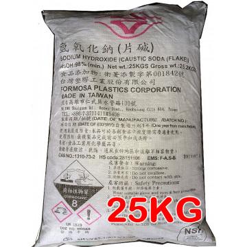 氫氧化鈉(片鹼) 98% 25kg/包 食品級