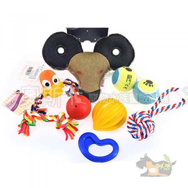 ELITE狗狗玩具豪華組合包(內含9樣玩具)