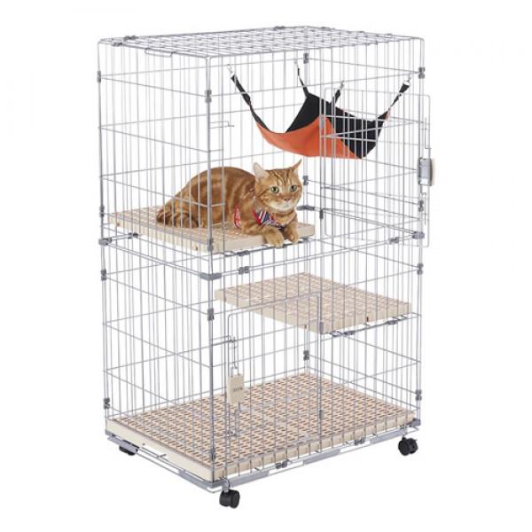 【免運費】寵愛物語-doter 雙開雙層2.5尺貓籠(附吊床)