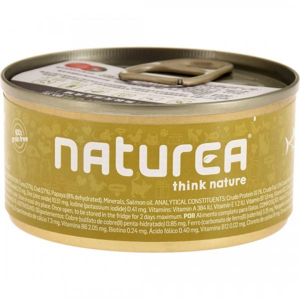 Naturea歐金 天然無穀物貓主食罐(鮪魚+木瓜)85g