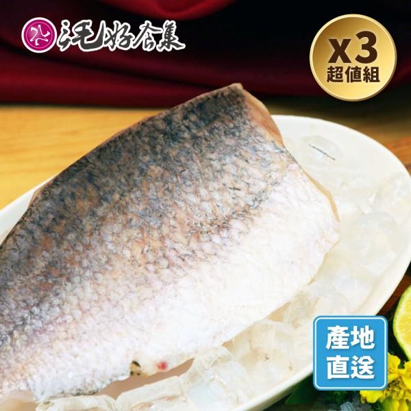 金目鱸魚菲力片300g*3組(有履歷)