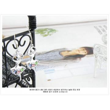 限量 韓國時尚少女心 浪漫天鵝湖舞動的芭蕾舞者甜美水鑽耳環