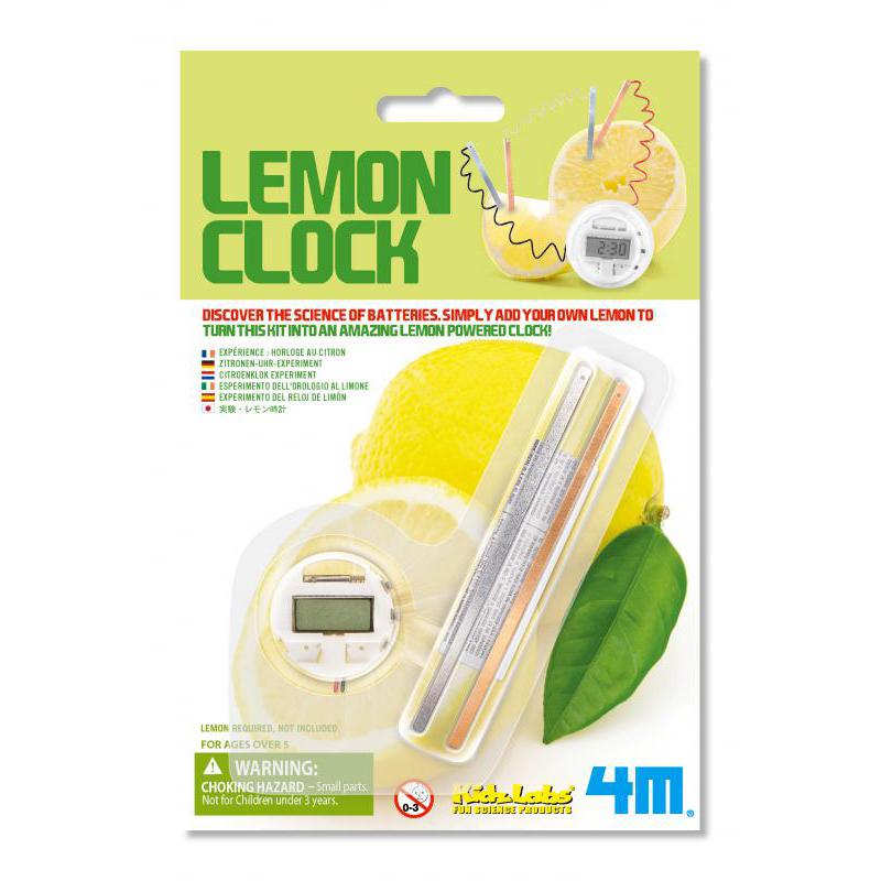4M水果電池實驗 - 檸檬時鐘