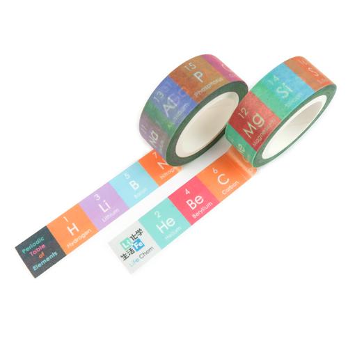 化學元素週期表-紙膠帶