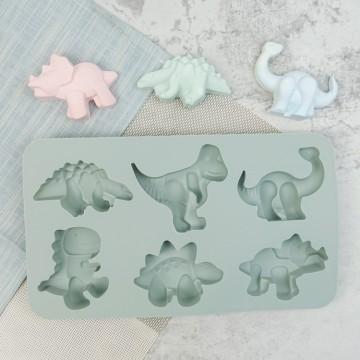六種造型 恐龍矽膠模具