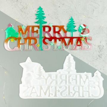 聖誕樹+字母 矽膠模具, 帝一化工,模具, 灌模