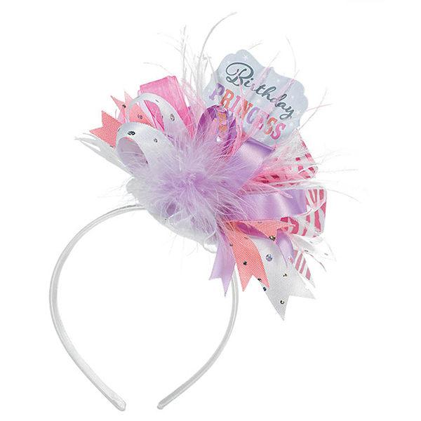 華麗髮箍1入-生日公主緞帶款