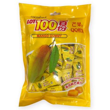 [千翔休閒零嘴]-一百份芒果味QQ軟糖300g