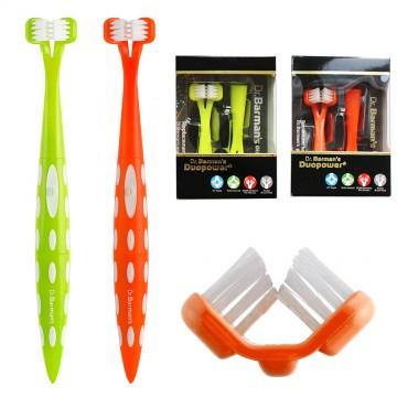 DuoPower 雙面斜角式刷毛電動牙刷(超值組)電動牙刷.音波牙刷.現貨供應.挪威品牌
