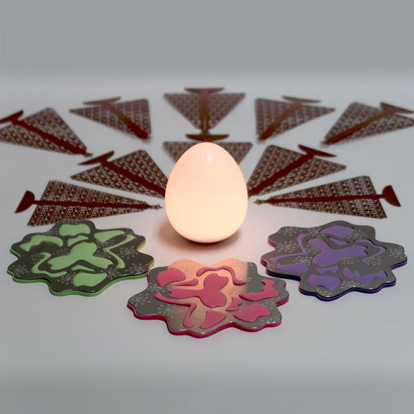 UOVA ● 完美蛋燈 + 食豔櫻花 ● 杯墊