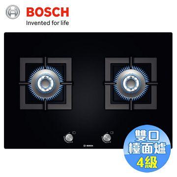 加入會員再享優惠! ★BOSCH 嵌入式玻璃雙口瓦斯爐 PPU816B1TT