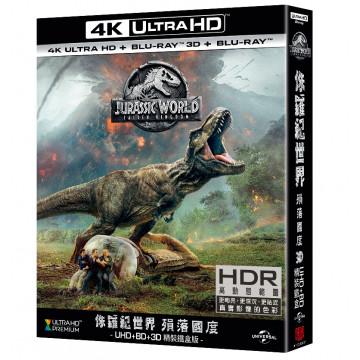 侏羅紀世界: 殞落國度 UHD+BD精裝鐵盒(4碟裝)