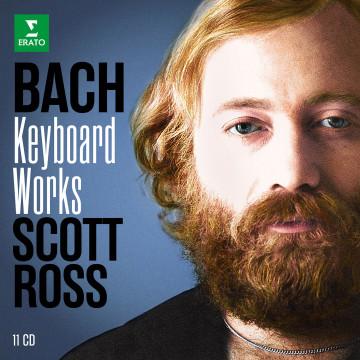 史考特‧羅斯演奏巴哈大鍵琴作品集  (11CD)