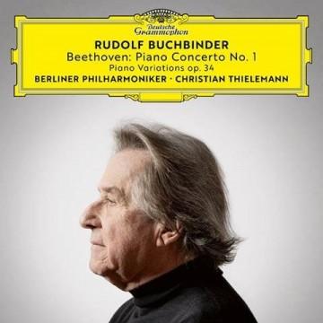 (DG)貝多芬:第一號鋼琴協奏曲、F大調主題與變奏/布赫賓德(鋼琴)、提勒曼指揮柏林愛樂