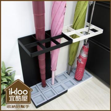 【ikloo】日式簡約傘架-方型4格