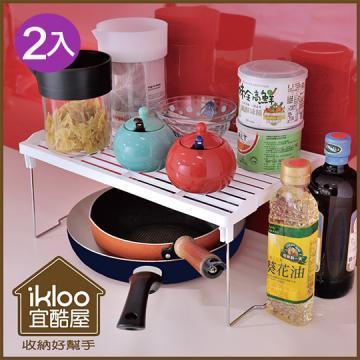 【ikloo】可移式4大4小粉漾抽屜收納箱