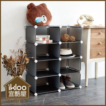 【ikloo】輕巧多變四層防塵鞋櫃◆桃花紅◆