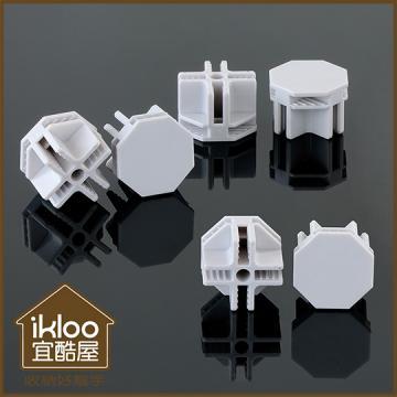 【ikloo】12吋收納櫃延伸配件-接頭10入一組