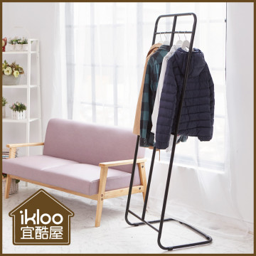 【ikloo】黑白旋轉衣帽架/掛衣架