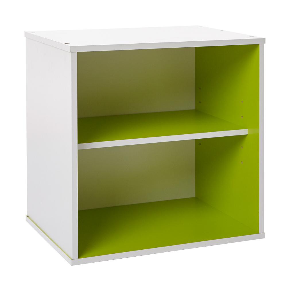 【ikloo】現代風二格收納櫃/置物櫃(超值兩入)