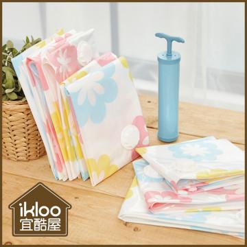 買一送一【ikloo】花漾真空壓縮袋加厚款(13件組)
