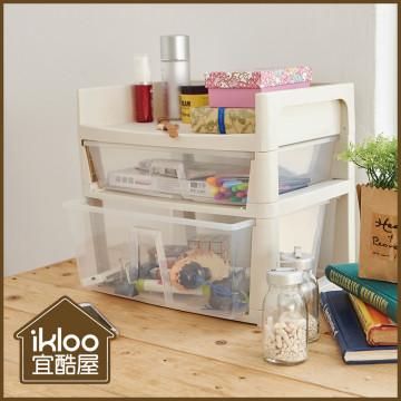 買一送一【ikloo】無印風萬用桌上收納盒(辦公室/文具/小物)