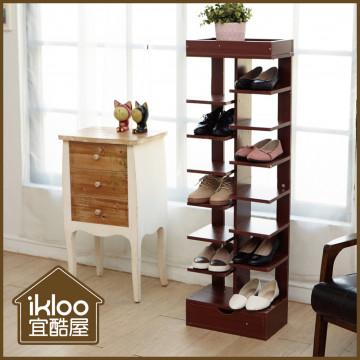 【ikloo】日系質感8層收納鞋架/魚骨鞋架