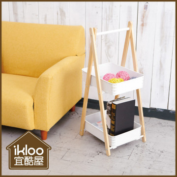 【ikloo】工業風可提式雙層收納欄/收納箱