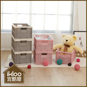 【ikloo】輕巧折疊收納箱(3入組)