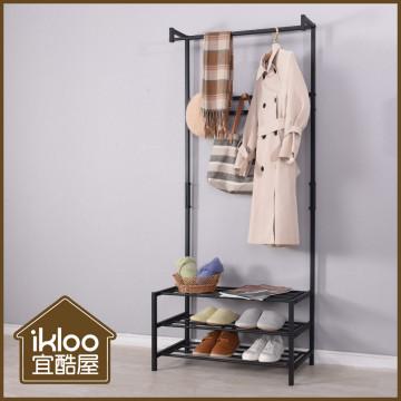 📣📣📣【ikloo】工業風掛衣置物架
