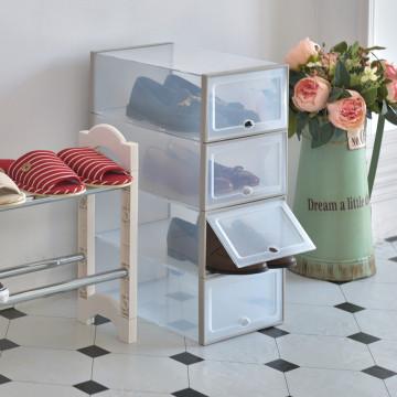 📣📣📣【ikloo】掀蓋透明置物收納/鞋盒