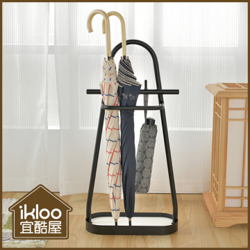 【ikloo】神奇瞬吸珪藻土傘架(黑)