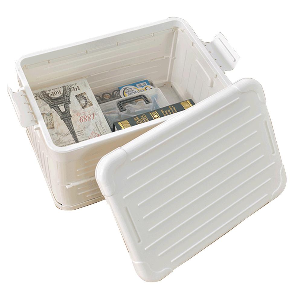 【ikloo】加厚款造型收納箱40L