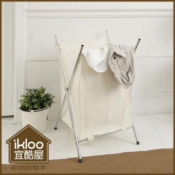 (經銷商限定)【ikloo】附蓋髒衣收納籃/洗衣籃 (單格)
