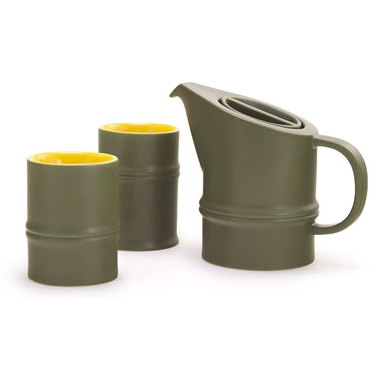 節竹先登茶壺/茶杯