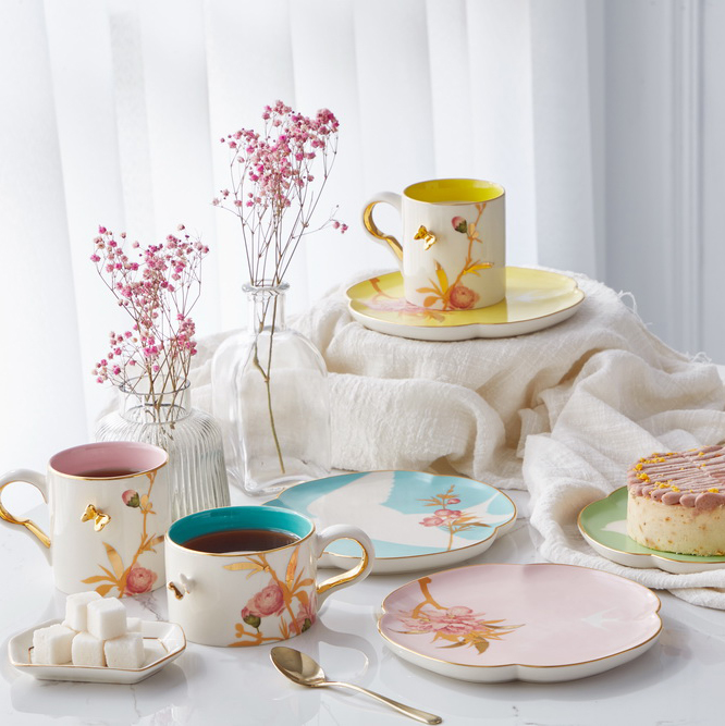 Peach Blossom Enchantment /cup and plate