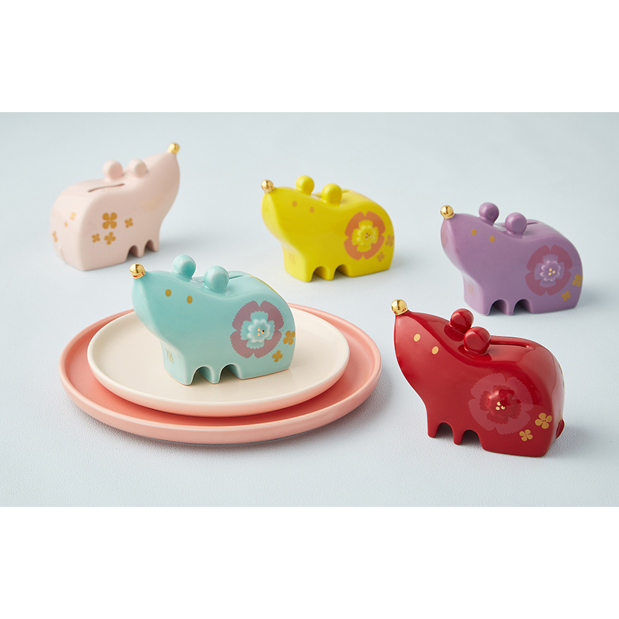 Hibiscus Mouse /coin bank