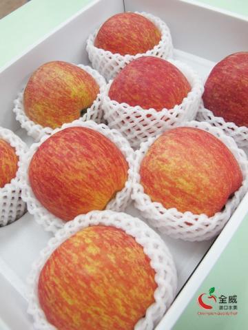 智利套袋蘋果L號(8入裝/盒)