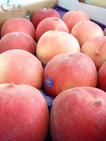 美國加州水蜜桃(18入/箱),香甜的加州脆桃