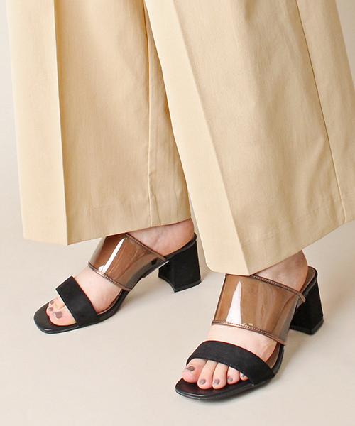 新色追加/百搭款 時尚透明穆勒涼鞋/PS9044